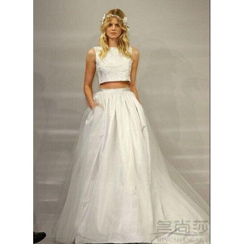 Medium Crop Of Two Piece Wedding Dress