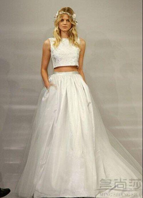 Medium Of Two Piece Wedding Dress