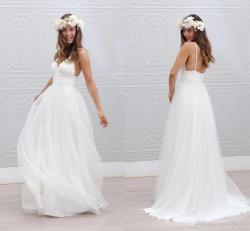 Compelling Weddingin Discount Bohemian Beach Wedding Dresses Spaghetti Straps Pure Discount Bohemian Beach Wedding Dresses Spaghetti Straps Pure Ruchedtulle 2015 Wedding Dresses Style Fairy Bridal Gow