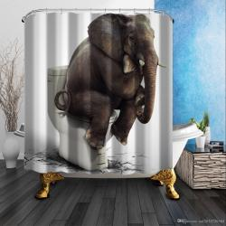 Small Of Elephant Shower Curtain