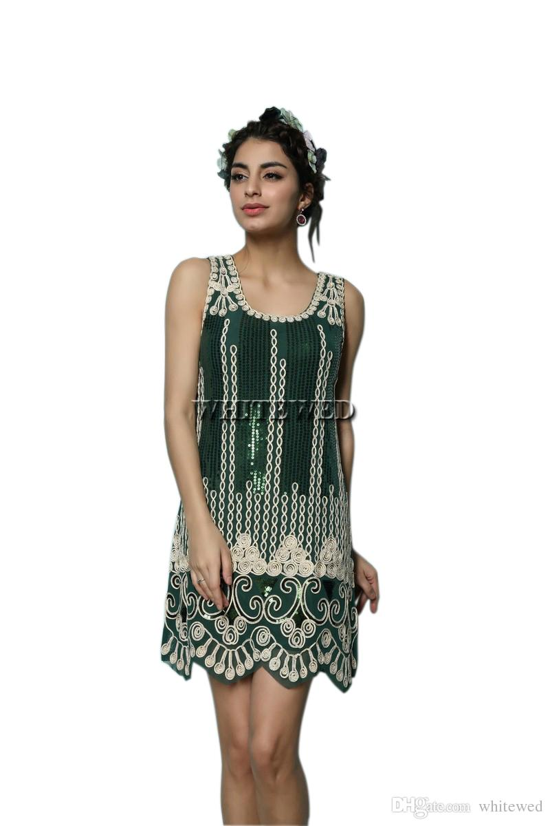 Captivating Women Sexy Adult Costume Mens Costumefrom Vintage Art Deco Embroidery Sparkle Gatsby Ladies Vintage Art Deco Embroidery Sparkle Gatsby Ladies Flappergirl Wear Costume Dress