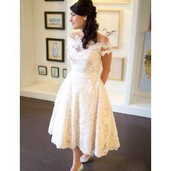 Small Crop Of Tea Length Wedding Dress