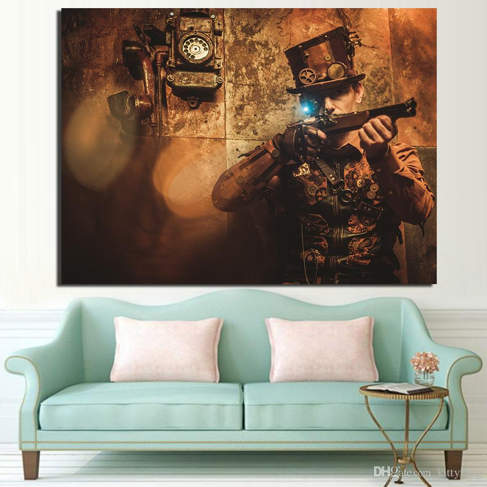 Attractive 2018 Canvas Art Steampunk Vintage Poster Hd Printed Wall Art Home Decorcanvas Painting Prints Ny From 2018 Canvas Art Steampunk Vintage Poster Hd Printed Wall Art Home houzz-03 Steampunk Wall Art