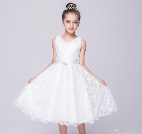 Medium Of White Dresses For Girls