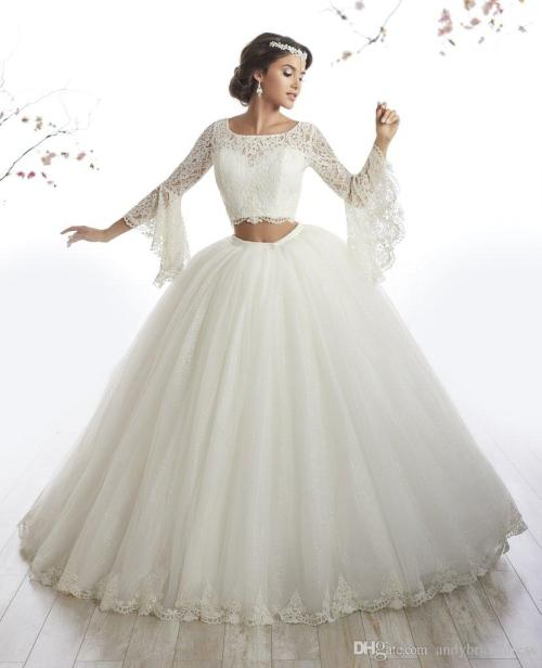 Pristine Arabic Style Ivory Lace Long Sleeve Two Piece Quinceanera Dress Gownsvestidos De Anos Debutante Ball Gown Long Prom Dress Quinceaneradresses Arabic Style Ivory Lace Long Sleeve Two Piece Quin