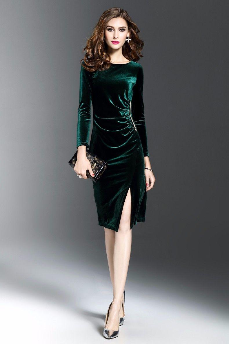 Fullsize Of Long Sleeve Velvet Dress