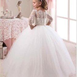 2017 Princess Girl Beauty Dresses Girls Puffy First Communion Dress