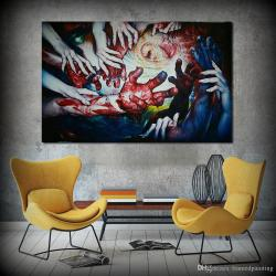 Scenic 2018 Hand Hing Hands Abstract Wall Art Home Decor Canvas Printpainting Living Room No Frame From 2018 Hand Hing Hands Abstract Wall Art Home Decor Canvas