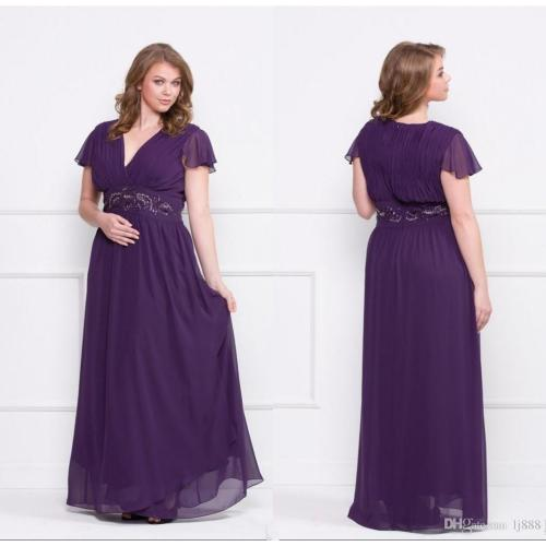 Medium Crop Of Plus Size Purple Dress