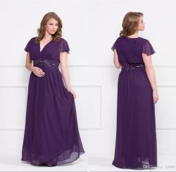 Small Of Plus Size Purple Dress