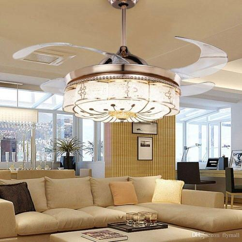 Medium Of Chandelier Ceiling Fan