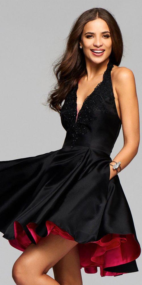 Medium Of Black Cocktail Dress
