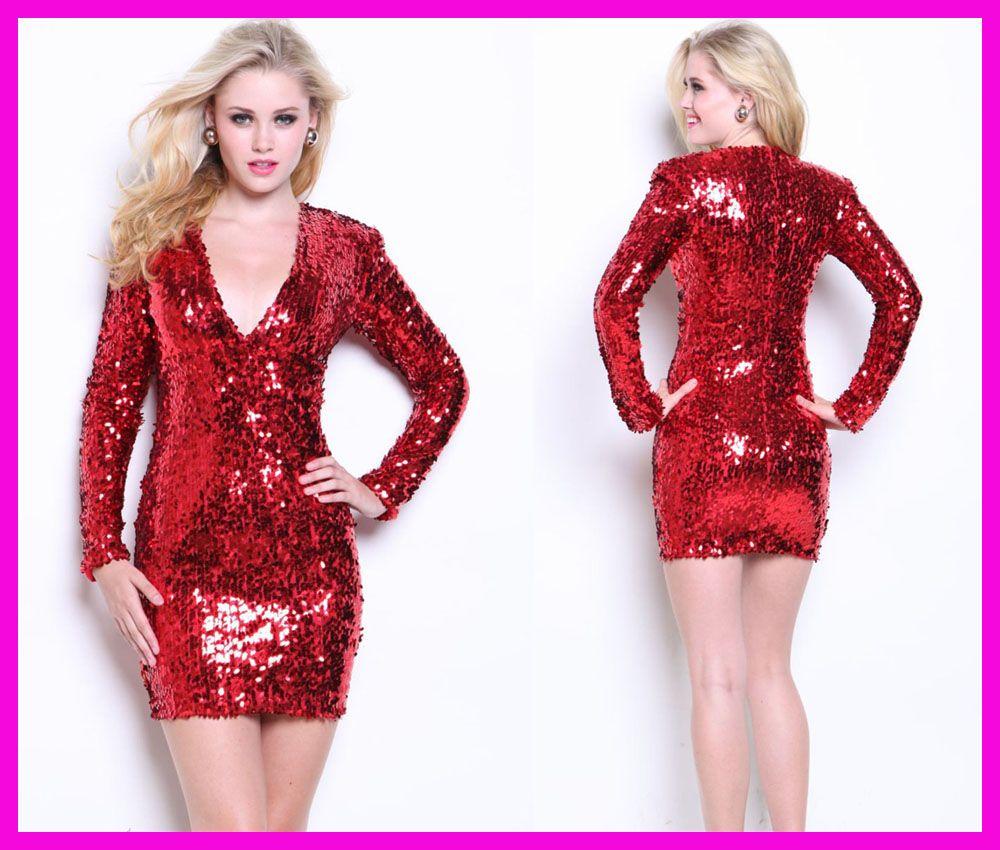 Fullsize Of Red Sequin Dress