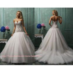 Small Crop Of Drop Waist Wedding Dress