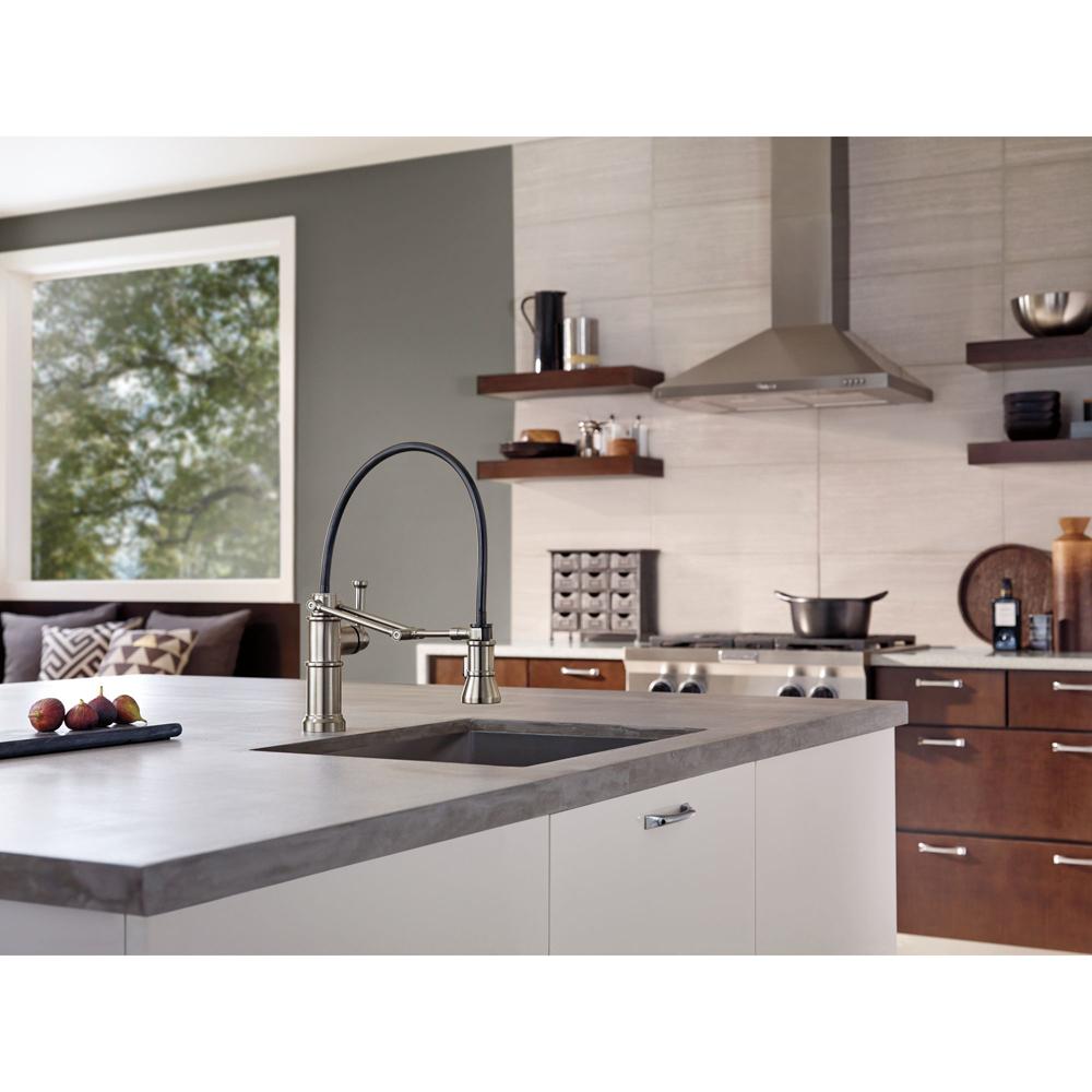 brizo LF chrome articulating kitchen faucet DLFPC Artesso Pull Out Spray Kitchen Faucet Chrome at FergusonShowrooms com