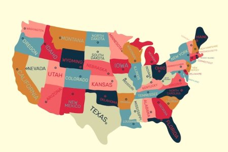 united states of america map background vector | free download