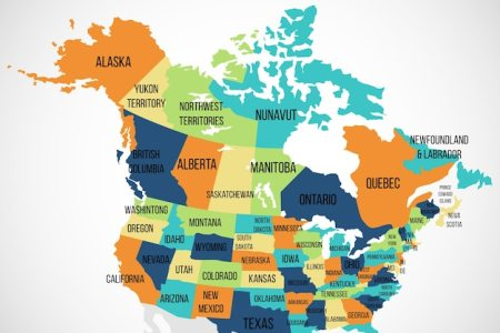 Usa And Canada Physical Map Usa And Mexico Border Detailed Us - United states and canada physical map