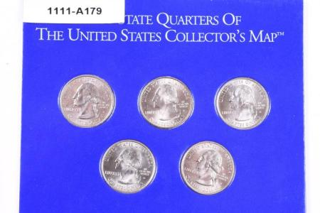 first state quarters of the united states collector's map 19