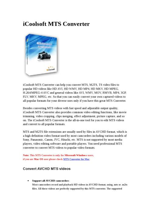 Medium Of Convert Avchd To Mp4