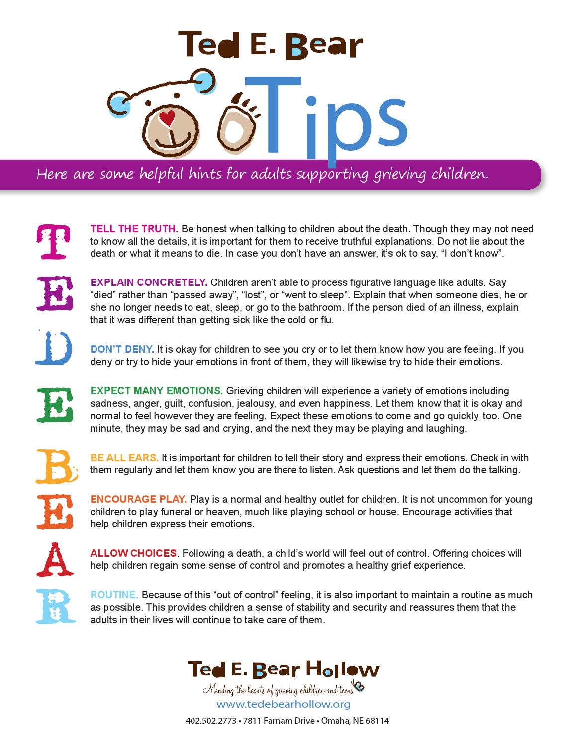 Endearing Ted Bear Tips By Ted Bear Hollow Issuu What To Say When Someone Passes Away Suddenly What To Say When Someone S Far Passed Away inspiration What To Say When Someone Passes Away