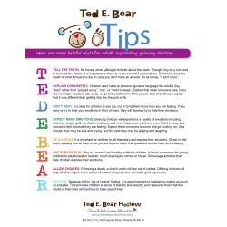 Endearing Ted Bear Tips By Ted Bear Hollow Issuu What To Say When Someone Passes Away Suddenly What To Say When Someone S Far Passed Away