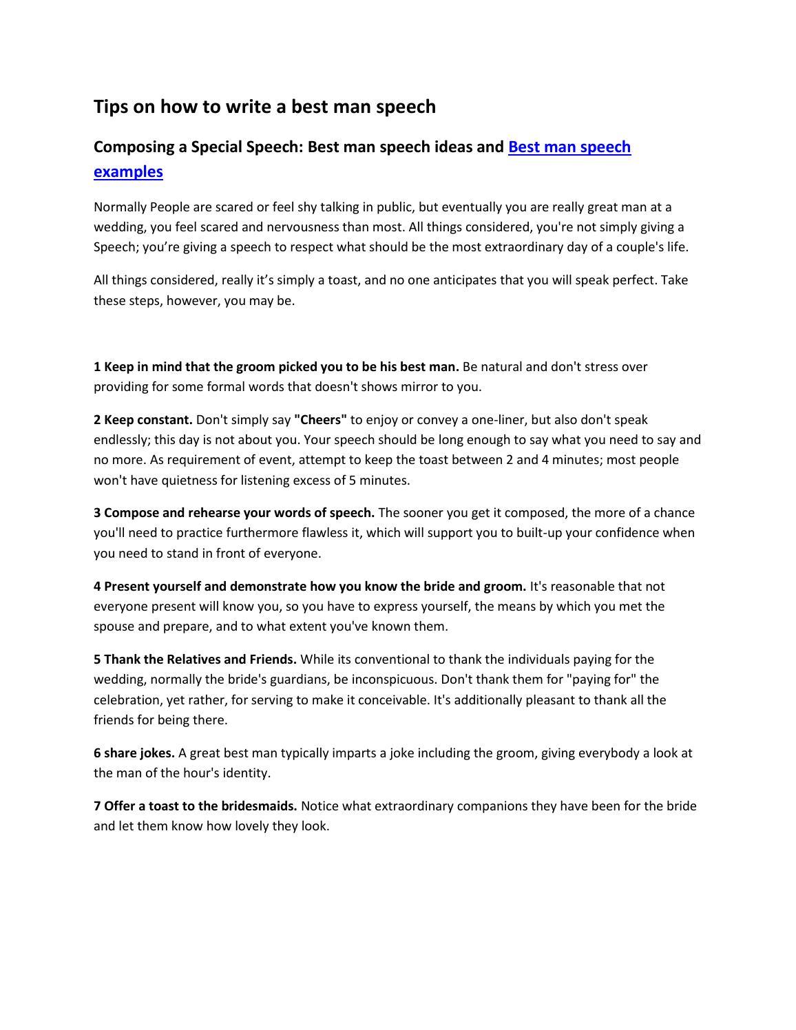 Fullsize Of Best Man Speech Examples