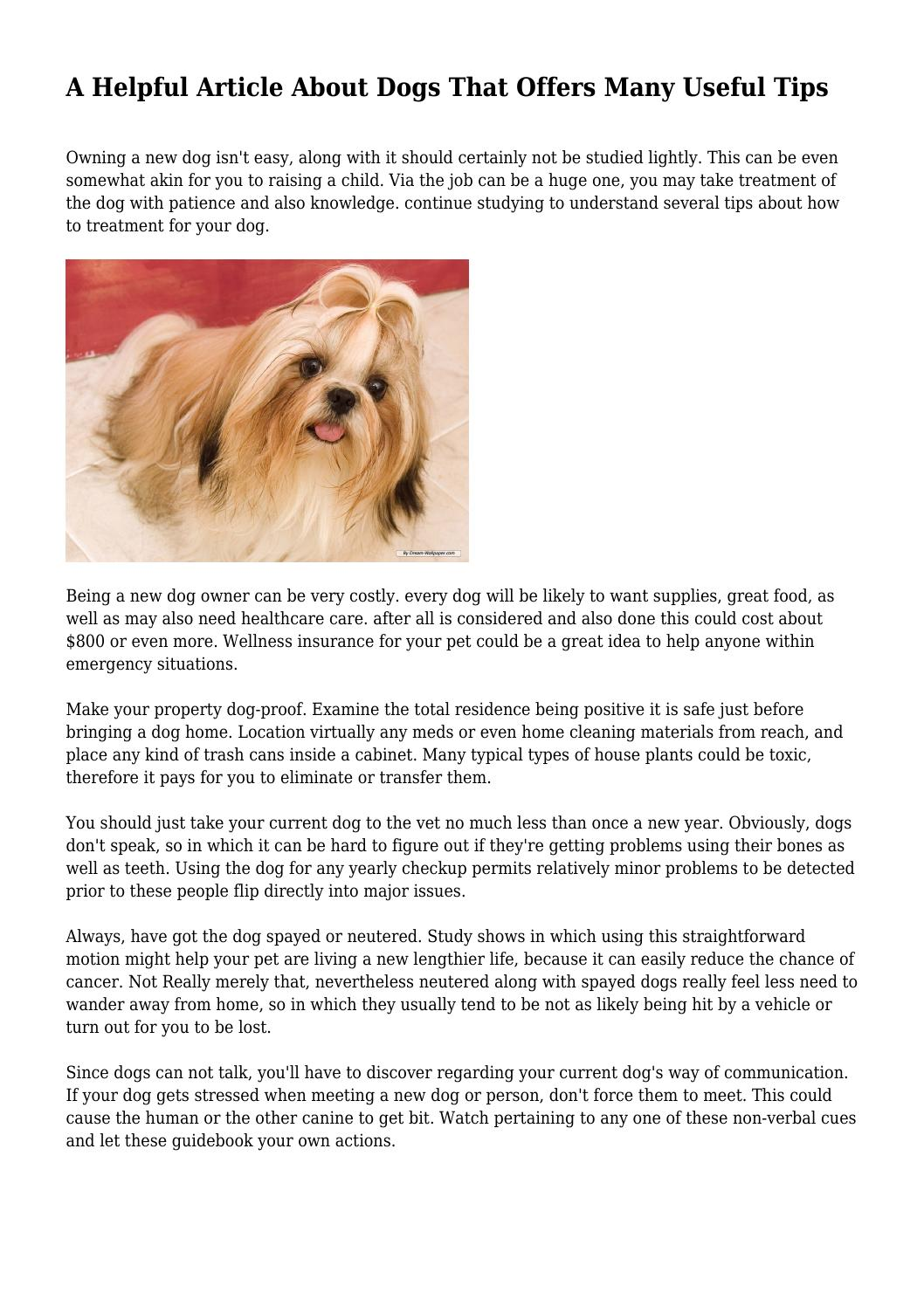 Smart A Helpful Article About Dogs That Offers Many Useful Tips Issuu A Helpful Article About Dogs That Offers Many Useful Tips By If Dogs Could Talk Quotes If Dogs Could Talk Youtube bark post If Dogs Could Talk