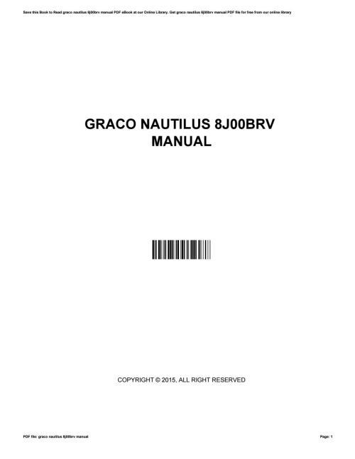 Medium Of Graco Nautilus Manual
