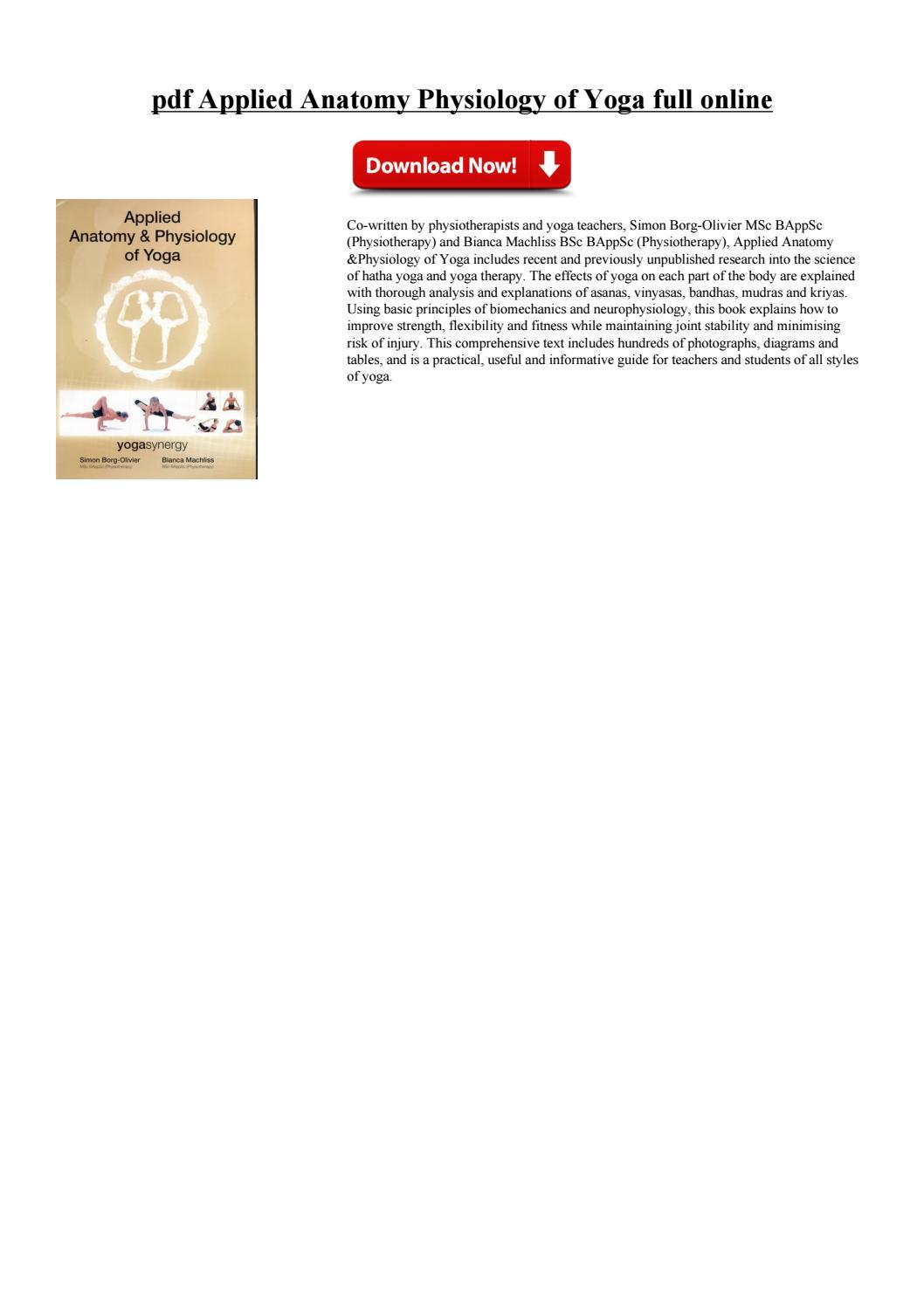 Physiology Of Yoga Pdf   Spotgymyoga.org