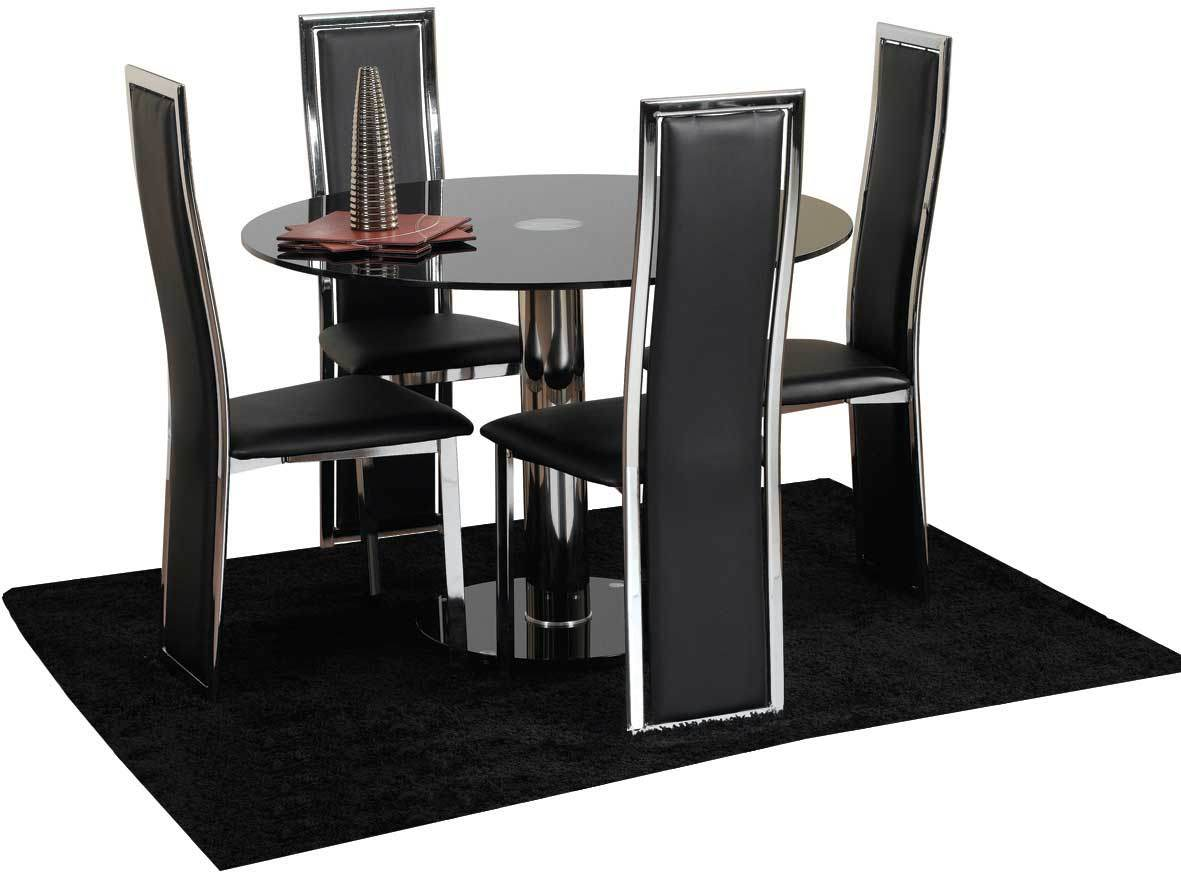 4 chair dining table kitchen table chairs set Chairs Next Day Delivery Hampton cm Glass Dining Table
