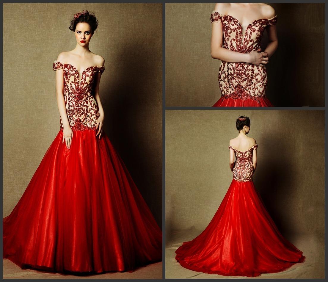 China Beaded Red Bridal Dress Cap Sleeves Wedding Gowns L28 red wedding dresses Beaded Red Bridal Dress Cap Sleeves Wedding Gowns L28