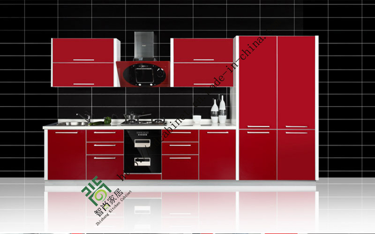 2015 New Model Kitchen Cabinet with UV MDF Doors ZS 127