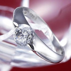 PT900(プラチナ)0.9ctダイヤリング 指輪 159713 13号【鑑別書付き】