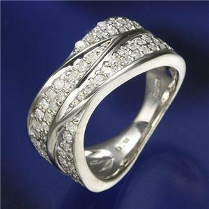 0.6ctダイヤリング 指輪  ワイドパヴェリング 13号