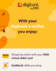 Digibank app by DBS acts like a mobile wallet and a card