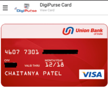 Prepaid VISA Card by Union Bank of India