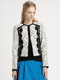 Nanette Lepore - Spectacle Cropped Lace Jacket