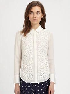 Theory - Zorina Lace Shirt