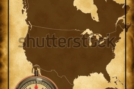 map of north america with the comp stock photo 78515191