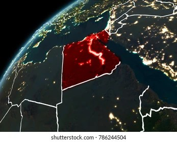 Egypt Map 3d Stock Illustrations  Images   Vectors   Shutterstock Egypt in red on planet Earth at night with visible borderlines and city  lights  3D
