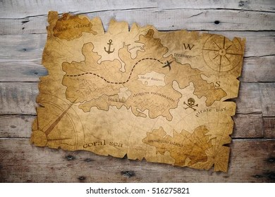 Treasure Map Images  Stock Photos   Vectors   Shutterstock treasure map on wooden table