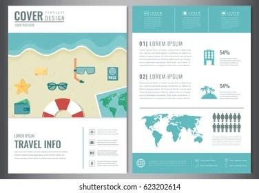 Travel Brochure Design Template Travel Tourism Stock Vector  Royalty     Travel brochure design  Template for Travel and Tourism concept  Vector  illustration