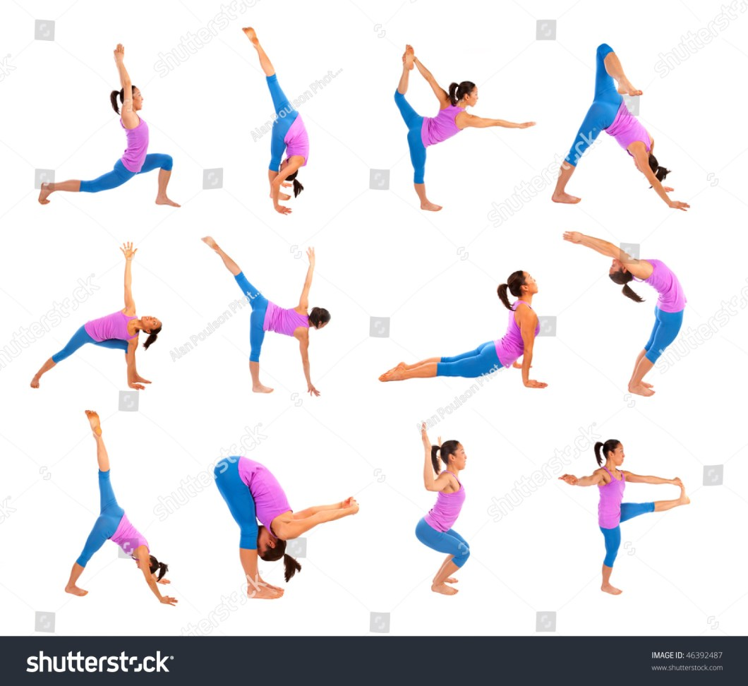 Poster All Kinds Yoga Poses Strength Stock Photo 46392487 Getting Flexible With