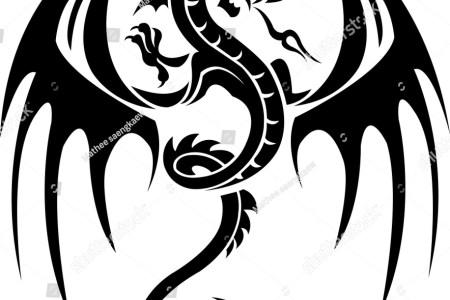 stock vector dragon tattoo 98335706