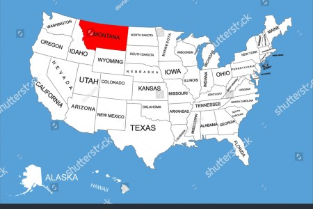montana state, usa, vector map isolated on united states