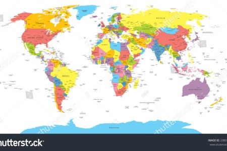 Map with names of countries stock vector world map with countries country and city names 298074752 gumiabroncs Choice Image