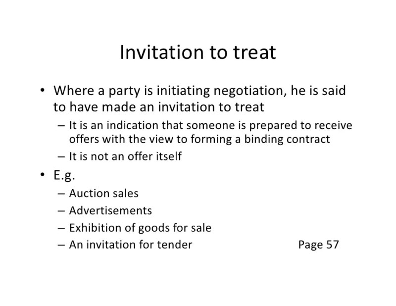 What is an invitation to treat in contract law invitationswedd invitation to treat 0101the law of contract stopboris Images