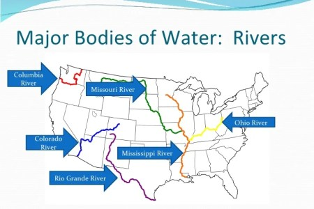 Map Of Water Bodies - Us bodies of water