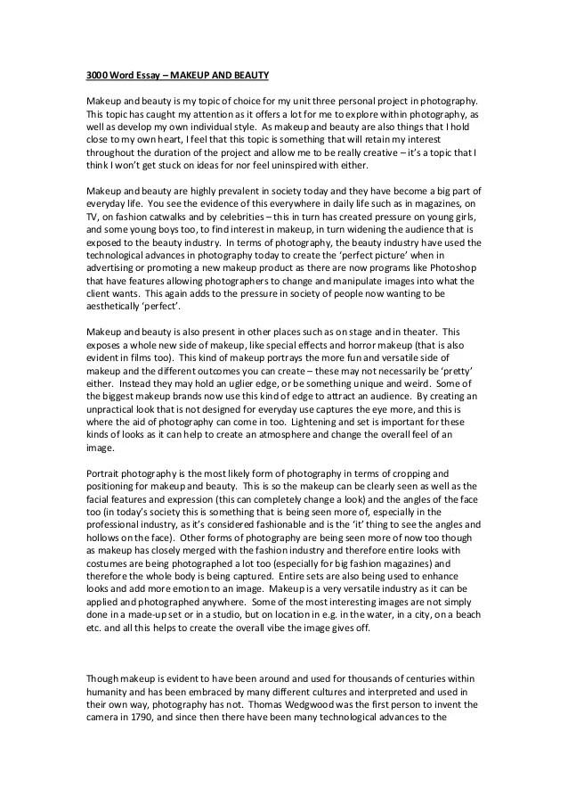 words per page essay