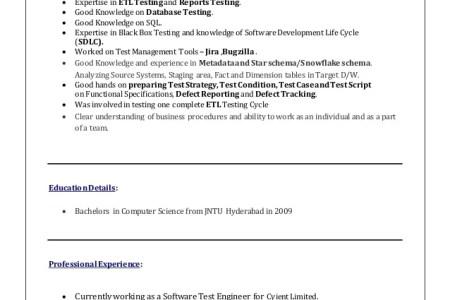 etl testing resumes sample resume etl tester resume etl testing